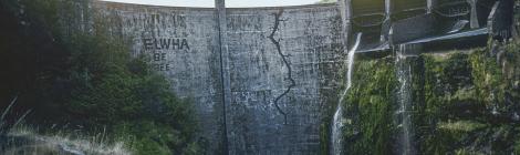 crack on dam
